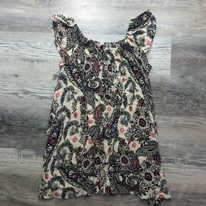Free People Paisley Floral Sleeveless Top Blouse